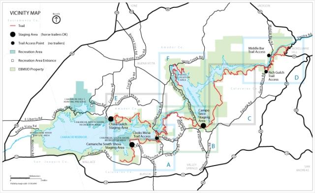 Mokelumne-Coast-Crest-Trail-Map