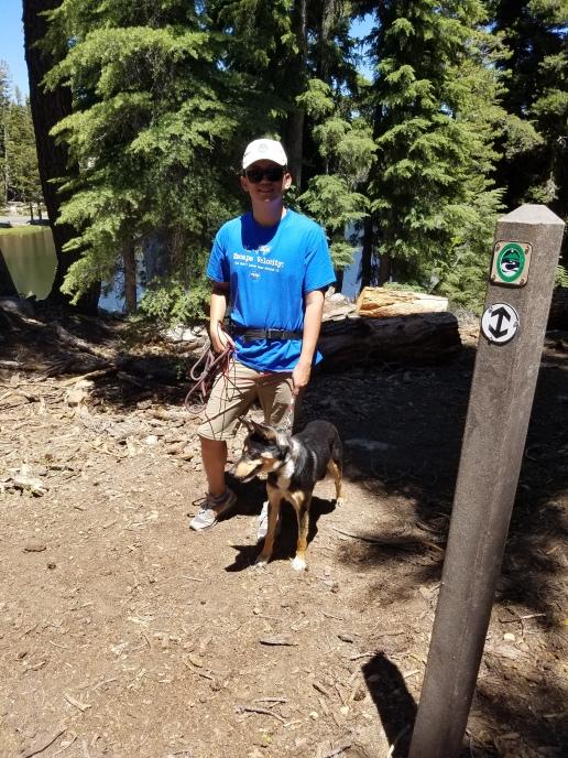 Trail friends at Heiser Lake Trail junction