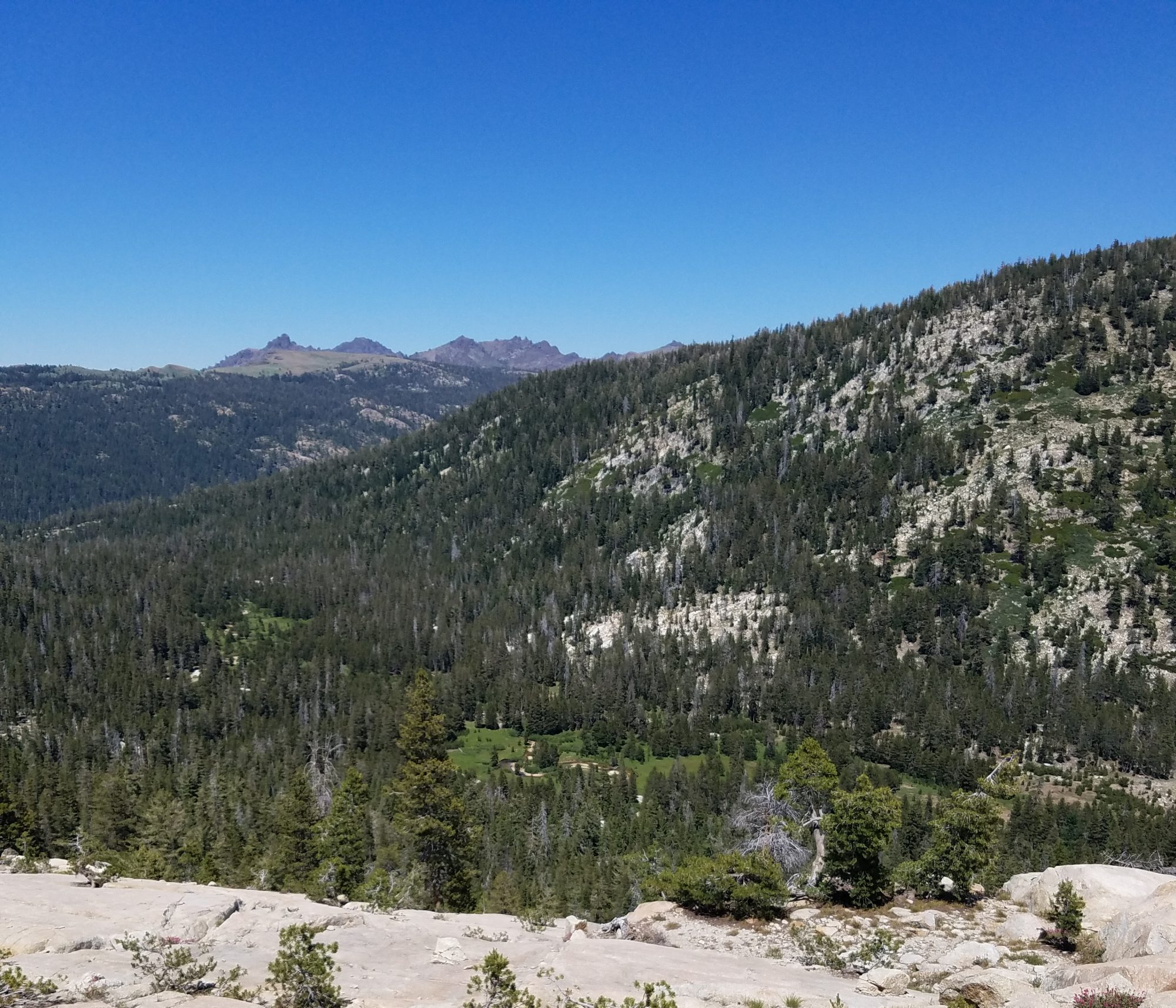 Overlook above Pacific Valley near Pacific Summit in the Sierra Nevada, June 2016